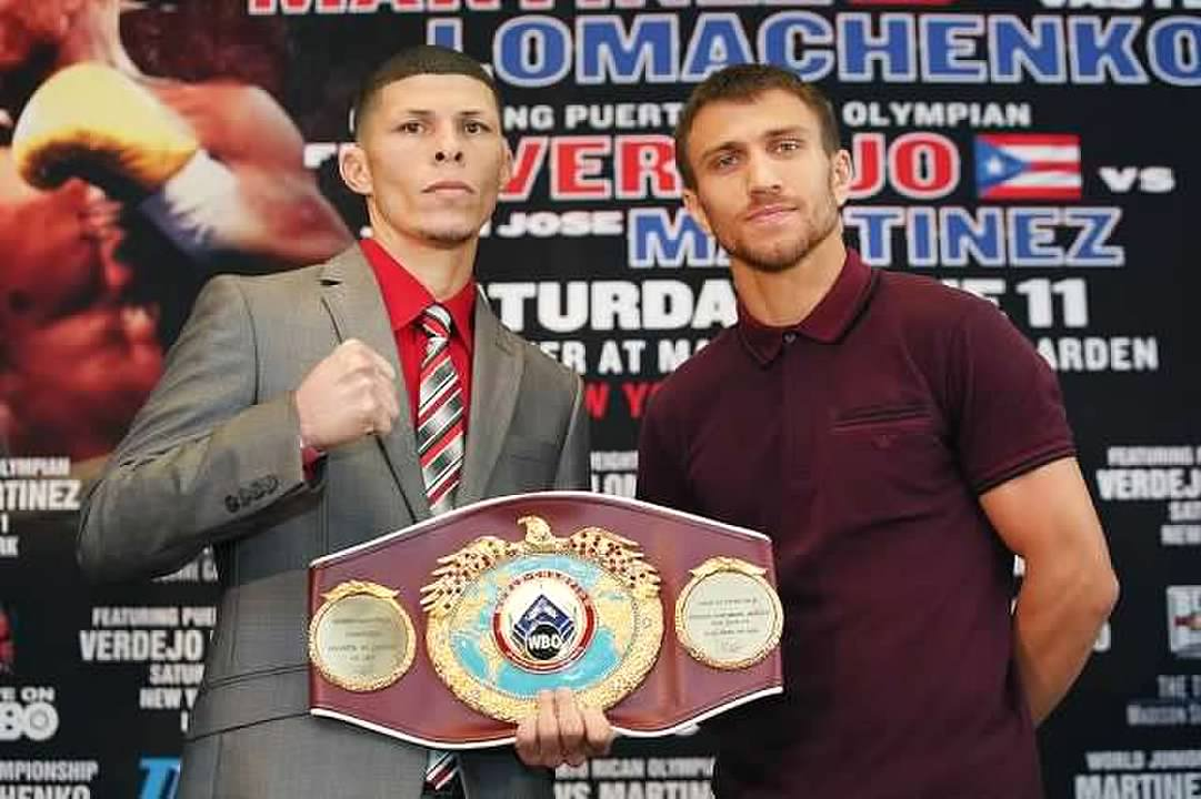 Rocky Martinez and Vasyl Lomachenko