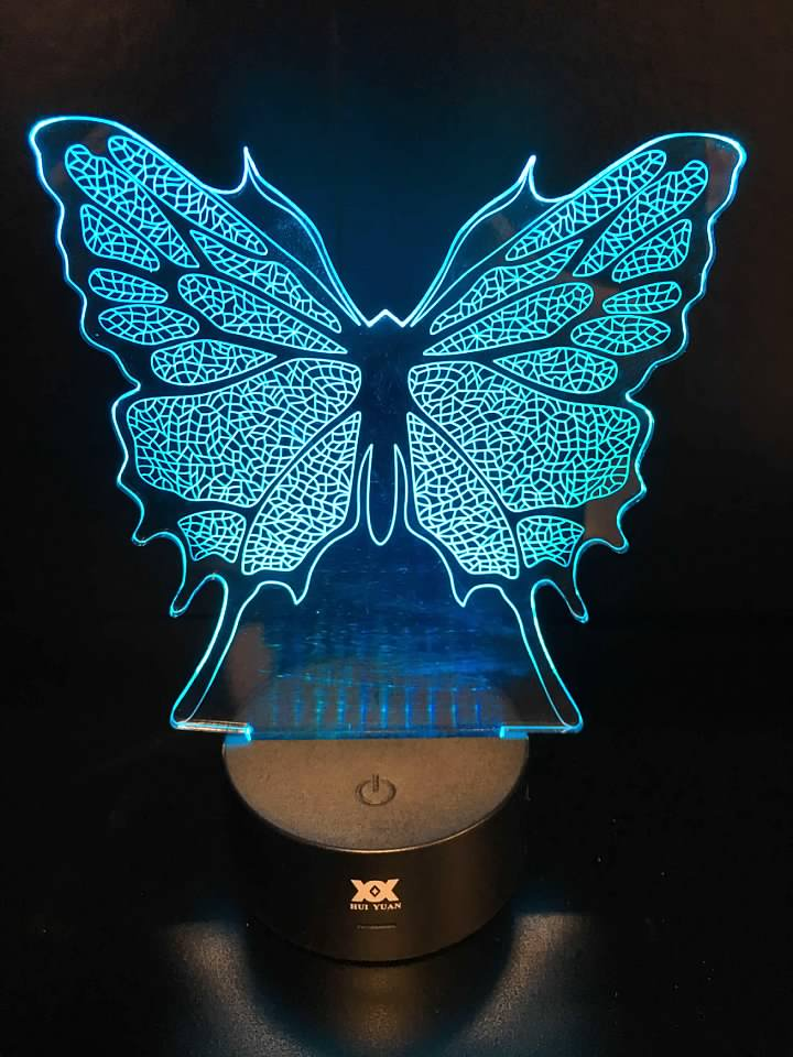 7 Color Butterfly LED