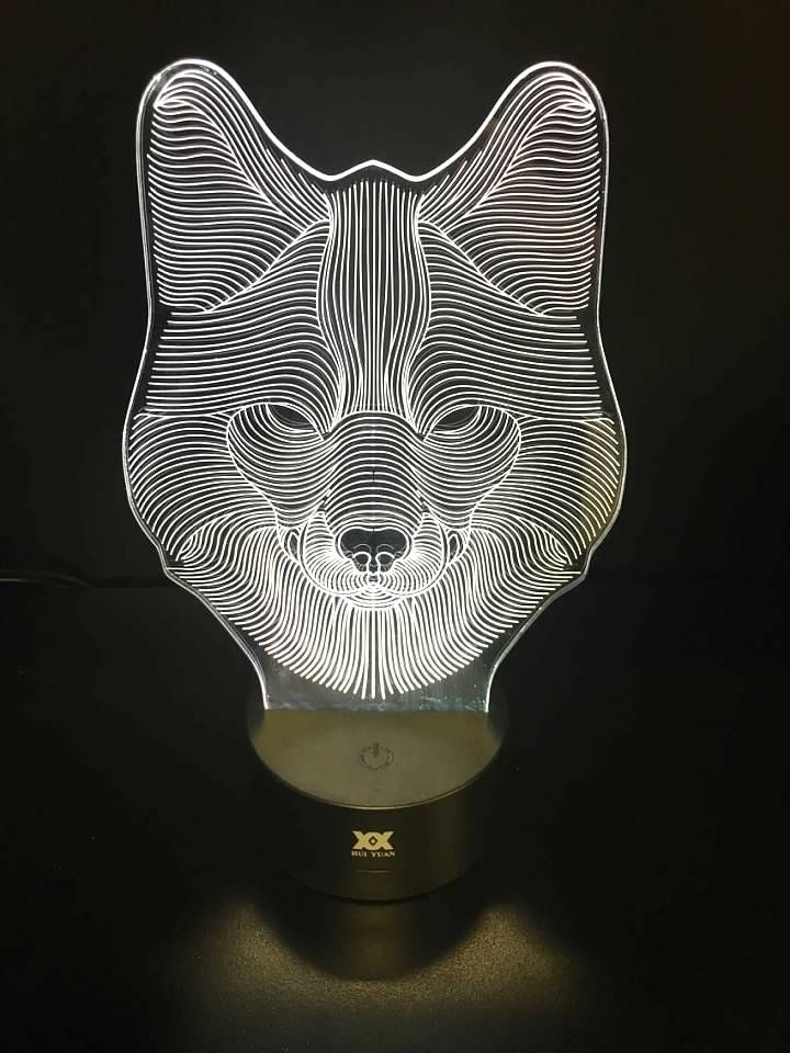 7 Color Wolf LED