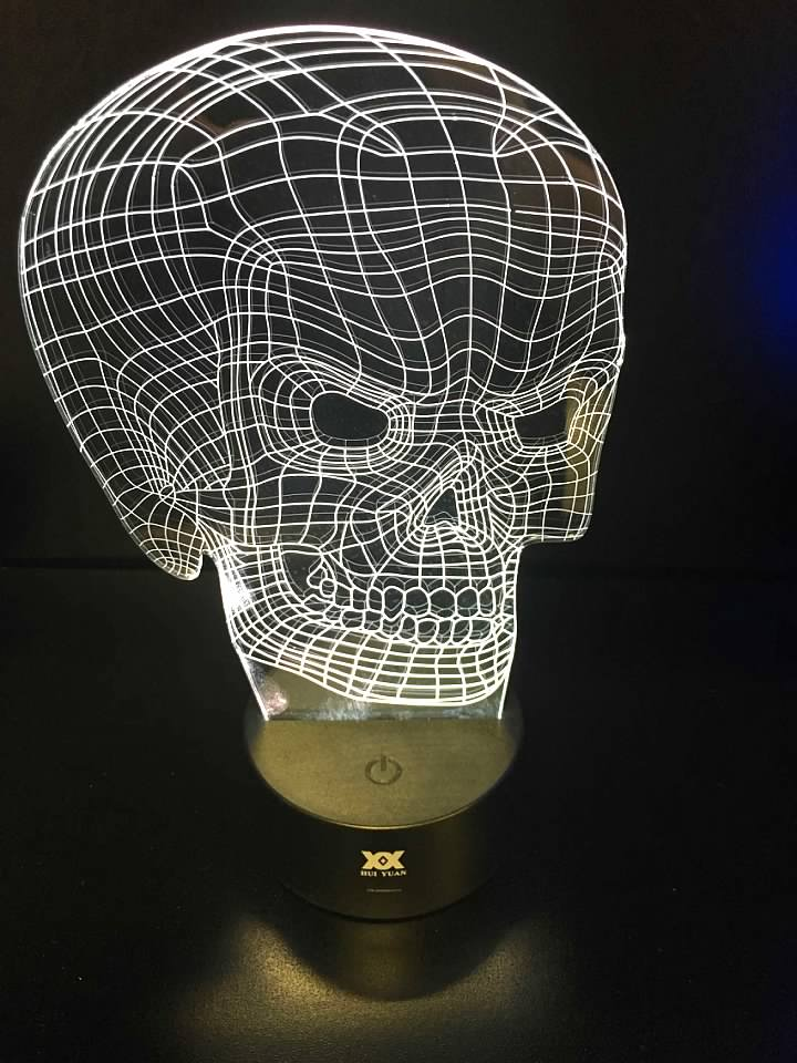 7 Color Skull LED