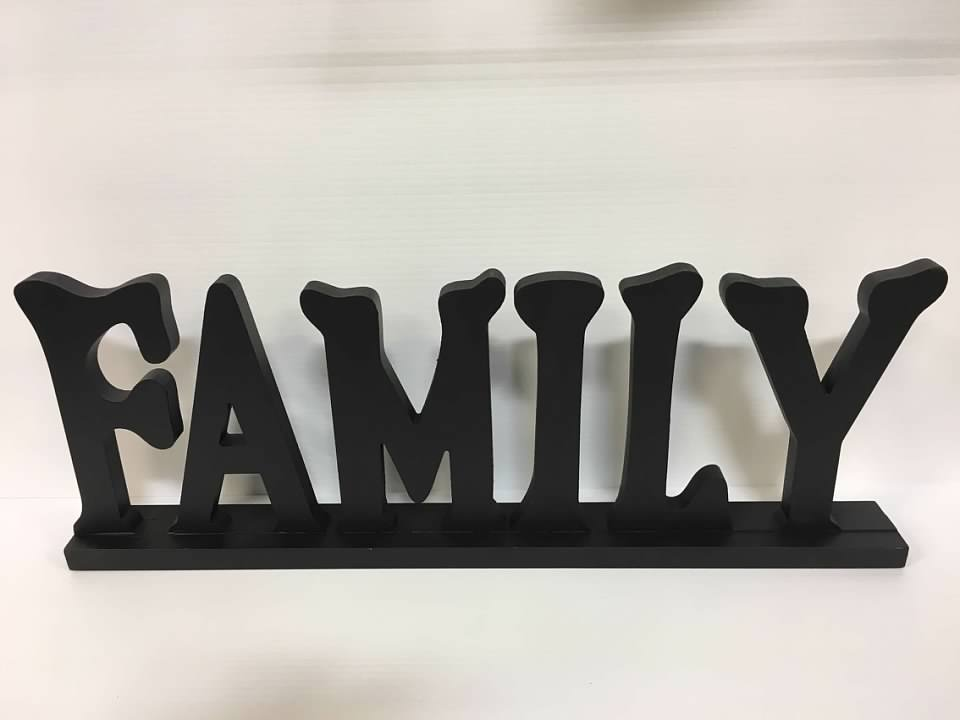 Family Table Top Sign