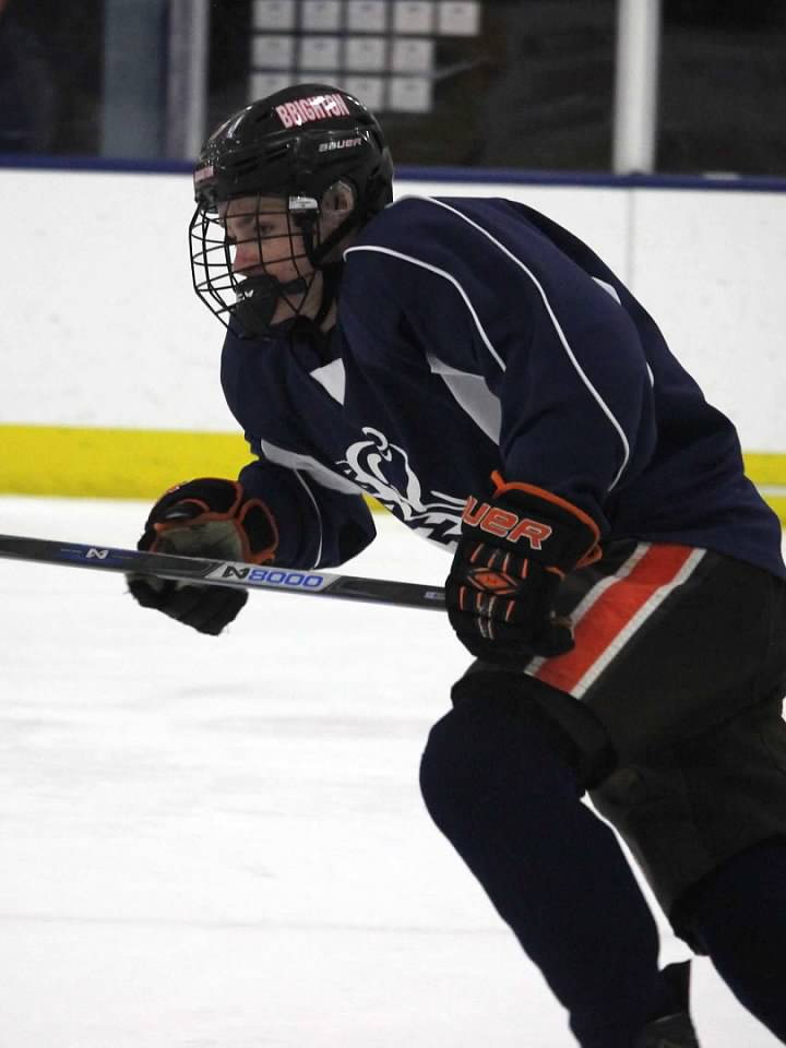 Junior Adam Conquest was the youngest of eight MI-HS players selected in the 2017 USHL Draft. A 2000 birth year, Conquest played in 29 games for D-I state champion Brighton High.