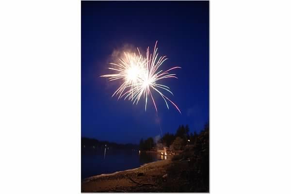 fireworks on our beach