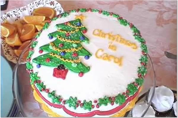 Sheila's cake for Christmas in Carol